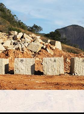granite blocks at quarry