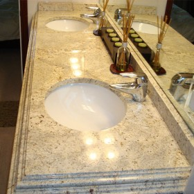 granite vanity with double sink