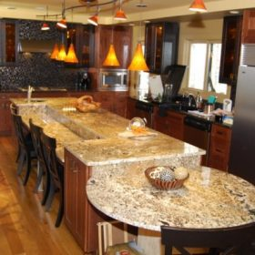 kitchen island granite top