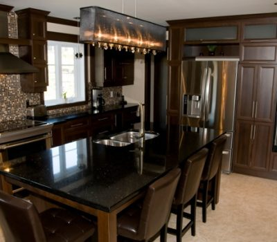 black galaxy granite kitchen