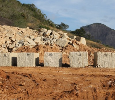 granite blocks at quarry