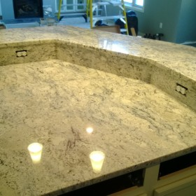 Granite kitchen Island w bar