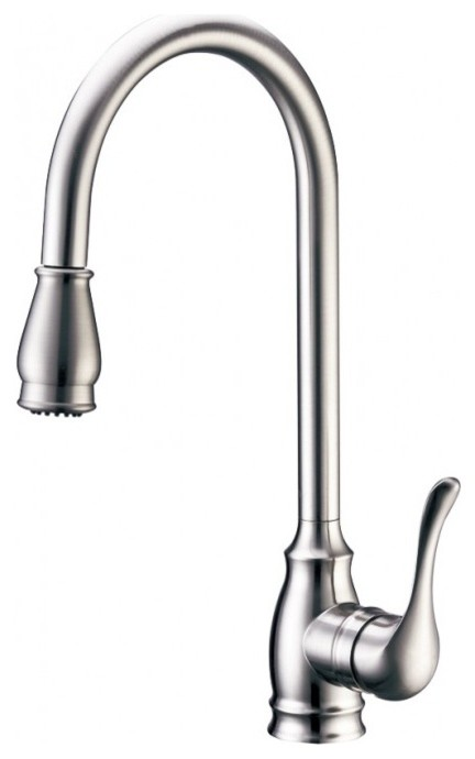 kitchen faucets high arc spout pull-down sprayer